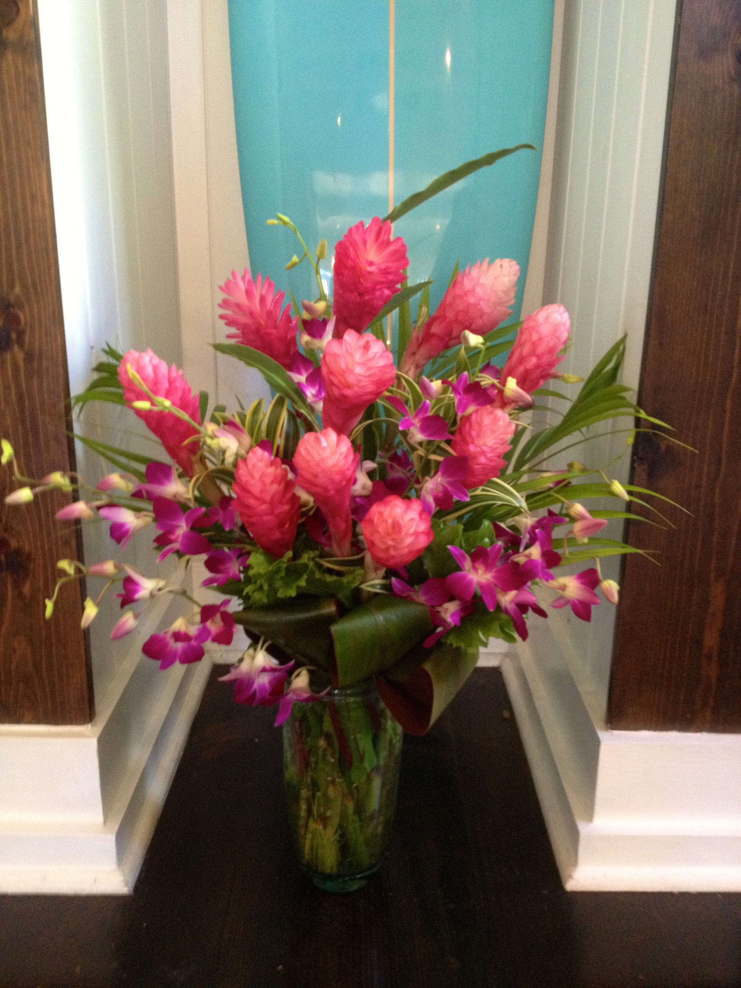 10 Stems Of Pink Ginger Head High Tropicals